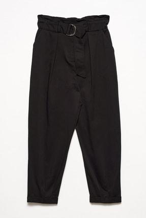 Dilvin Kadın Siyah 4502 Kemerli Rahat Pantolon 101A04502