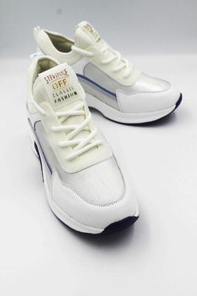 Guja Kadın Beyaz Yüksek Taban Hakiki Deri Spor Ayakkabı 20k3742beyaz