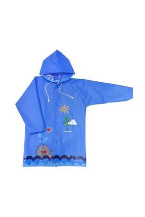 Sanbe Unisex Mavi Çocuk Yağmurluğu