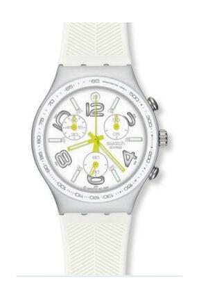 Swatch  Kadın Beyaz Irony Chonograph Standart Kol Saati Ycs4051