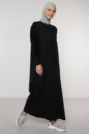 Benin Kadın Lacivert Gizli Cep Detaylı Salaş Elbise  1749657