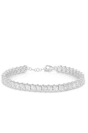 Herisson Kadın 925 Ayar Gümüş Zirkon Beyaz Taşlı Su Yolu Bileklik Hnzrb1402