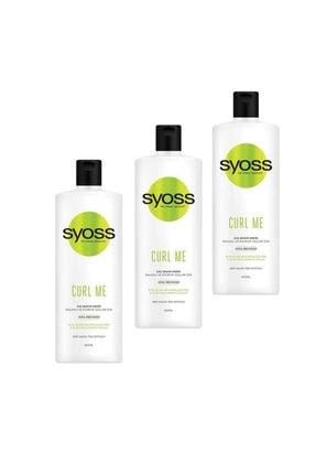 Syoss Curl Me Saç Kremi 500 ml 3'lü Set