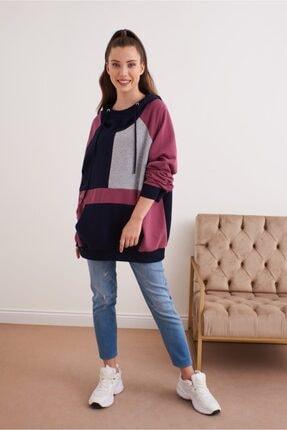 VENA Kadın Puzzle Desen Sweatshirt