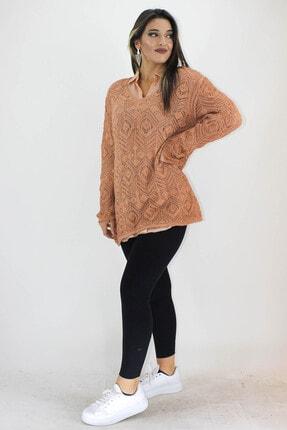 ERDEM Kadın Camel Trikolu Gömlek