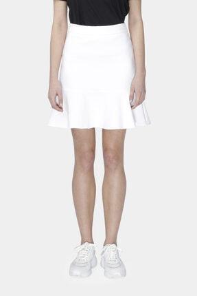 W Collection Kadın Beyaz Etek Ucu Volanlı Etek