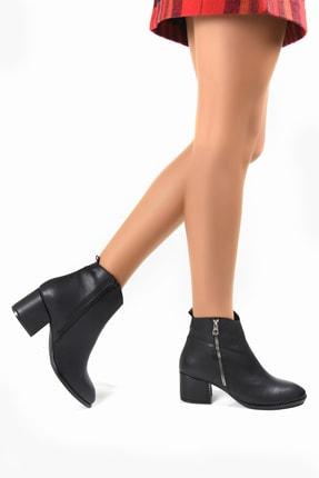Sapin Kadın Siyah Topuklu Bot 33704