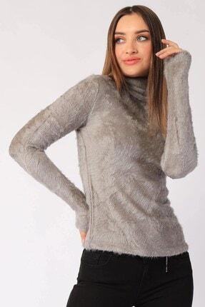 Twister Jeans Kadın Bt Peluş Boğazlı Bayan Triko 2200 Grı