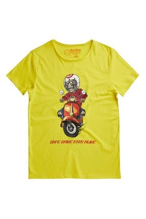 BAD BEAR Unisex Sarı Kısa Kollu T-Shirt