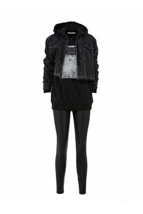 LTB Kadın Siyah Sweatshirt 011218151260900000