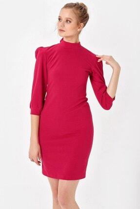 Jument Kadın Kırmızı Yarım Balıkçı Sırt Dekolteli Elbise