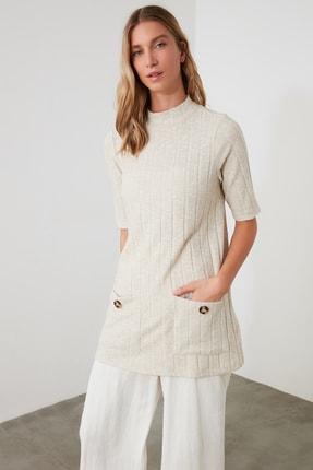 TrendyolMilla Taş Cep Detalı Örme Bluz TWOAW21BZ1476