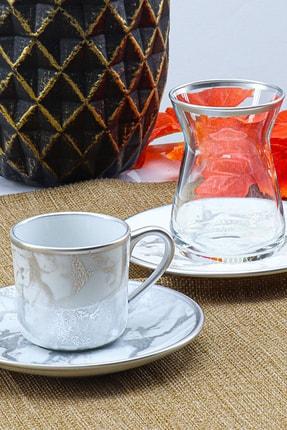 24 Parça Çay Kahve Takımı Silver 2021ST0335