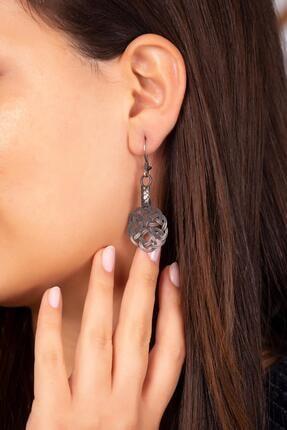 Sümer Telkari Kadın Kazaziye İşlemeli Aşk Düğümü Tasarım Gümüş Küpe 4226