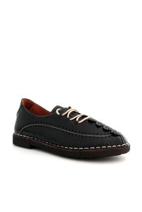 Beta Kadın Hakiki Deri Günlük Ayakkabı Siyah