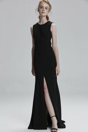 adL Kadın Siyah Sırt Dekolteli Elbise