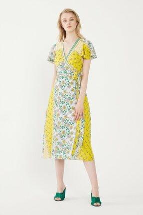 adL Kadın Lime Kruvaze Elbise