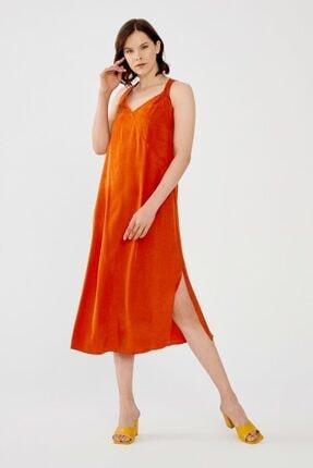 adL Kadın Tarçın Sıfır Kol Elbise