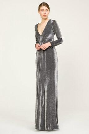 adL Kadın Gumus Önü Büzgülü Elbise