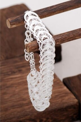 Sümer Telkari Kadın Telkari Tasarım Gümüş Bileklik 1198