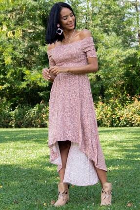 Morpile Kadın Kiremit Bel Lastikli Elbise A1178