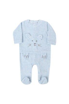 Bibaby Erkek Bebek Patikli Kadife Tulum 60312