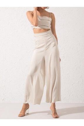 Bsl Kadın Taş Sırt Dekolte Detaylı Askılı Büstiyer Pantalon Takım