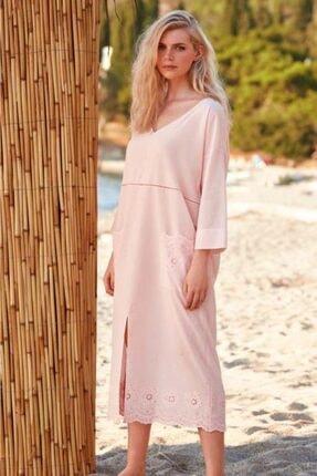 PENYE MOOD Kadın Pembe Penye Mood  Elbise 8762