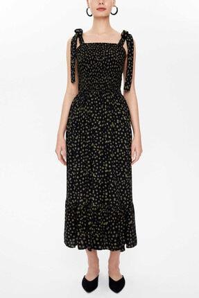 Societa - Gipeli Kalın Askılı Elbise 93100 Haki