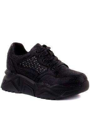 Guja Kadın Siyah Taşlı Spor Ayakkabı J-20k339-1
