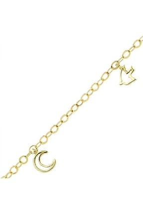 Altın Sepeti Kadın Sarı Taşsız Şans Figürleri Halhal