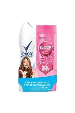 Rexona Motıonsense Shower Fresh Sprey Deodorant + Elidor Güçlü & Parlak Şampuan