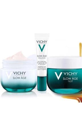 Vichy Slow Age Cilt Bakım Seti | Gece 50 Ml + Gündüz 50 Ml + Göz 15 Ml Orijinal Boy Set