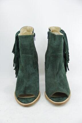 Kadın Yeşil Deri Bot FAY4415