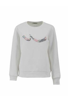 LTB Kadın Beyaz Sweatshirt 0112181904610430000