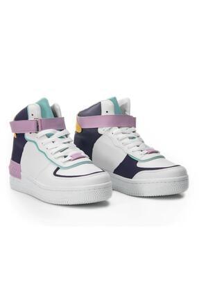 Letoon Kadın Mor Beyaz Günlük Ayakkabı Mrk21
