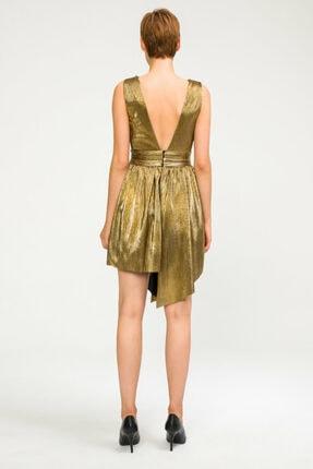 adL Kadın Bakır Büzgülü Mini Elbise 124C1567000076