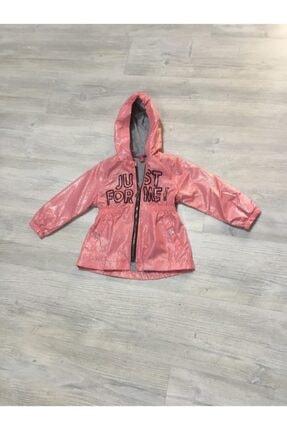 Midimod Kız Çocuk Pembe Yağmurluk