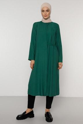 Refka Kadın Yeşil Gizli Düğmeli Bel Detaylı Tunik  1773210