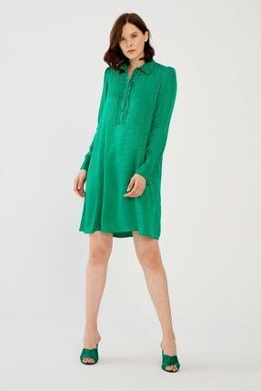 adL Kadın Yeşil Jakar Elbise 12438544000009