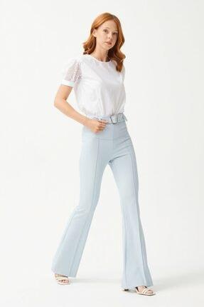 adL Kadın Mavi İspanyol Paça Pantolon