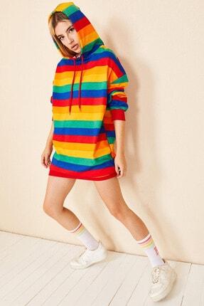 Morpile Kadın Oversize Kapüşonlu Sweatshirt