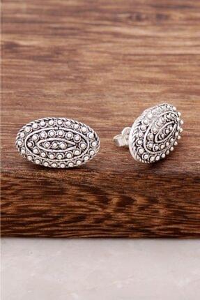 Sümer Telkari Kadın Telkari İşlemeli Çivi Topuzu Antik Tasarım Gümüş Küpe 2578