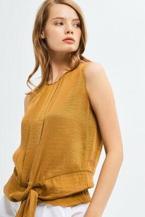 adL Kadın Yeşil Asimetrik Kesim Kolsuz Bluz