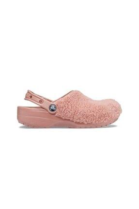 Crocs Kadın Pembe Fuzz Mania Clog Terlik