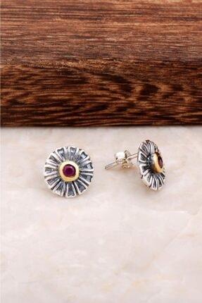 Sümer Telkari Kadın Çiçek Tasarım Gümüş Küpe 4555