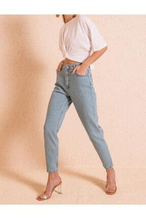 Bsl Kadın Açık Mavi Yüksek Bel Pantolon