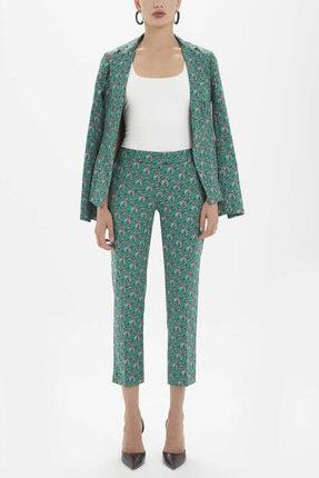 Societa - Düşük Bel Boru Paça Pantolon 41304 Yeşil