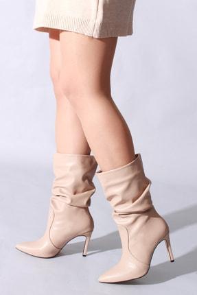 Rovigo Bej Cilt Kadın Çizme