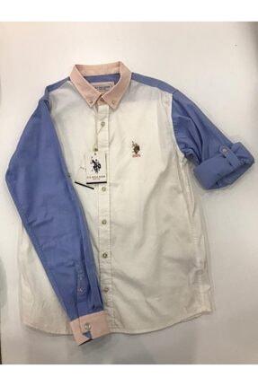 U.S Polo Assn. Unisex Çocuk Gömlek Uzunkol